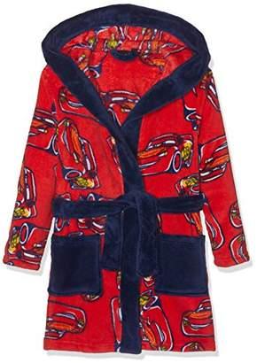 Disney Boy's Bathrobe Dressing Gown, (Red/Dark Blue)