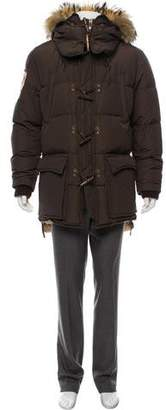 DSQUARED2 Fur-Trimmed Down Coat