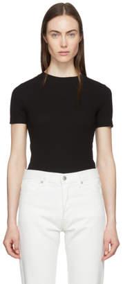 Rosetta Getty Black Cotton T-Shirt