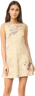 RED Valentino Embroidered Jacquard Dress $1,150 thestylecure.com