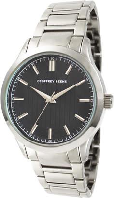 Geoffrey Beene GB8102SL Silver-Tone & Black Watch