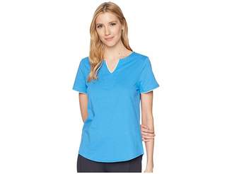 Jockey Short Sleeve Tunic Top with Contrast Piping Women's Pajama