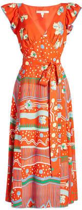 Marc Jacobs Printed Wrap Dress