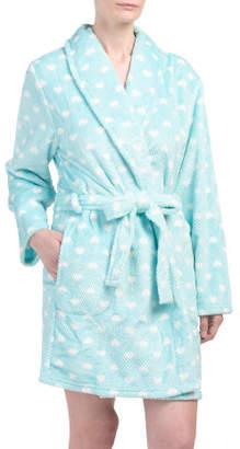 Heart Beehive Short Plush Robe