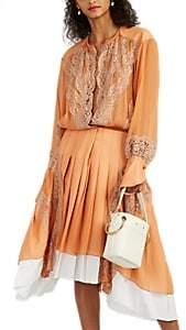 Chloé Women's Chiffon & Organza Midi-Dress - Brown