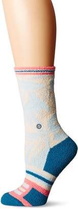 Stance Women's Makamae Hawaiian Print Arch Support Winter Everyday Crew Sock