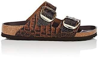 Birkenstock Women's Arizona Big Buckle Stamped Leather Sandals - Med. brown