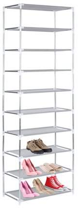 Sunrain Hot Selling Metal Shoes Rack 3/4/5/6/7/10 Layer Shoes Stand Removable Dust-Shelves Storage Organizer Fabric Shelf Holder Stackable Closet
