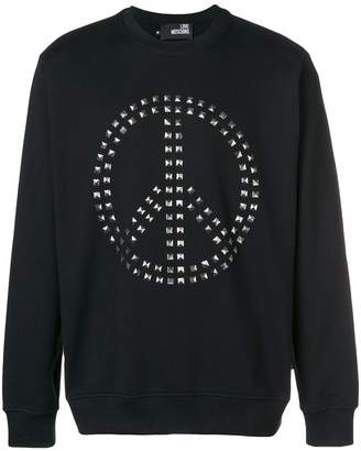 Love Moschino Peace Love sweatshirt