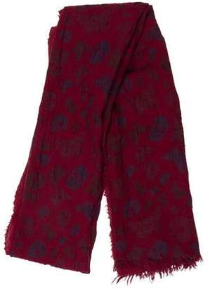 Zadig & Voltaire Wool Patterned Scarf