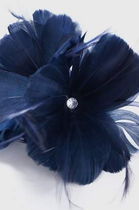 Wallis Navy Flower Clip Fascinator