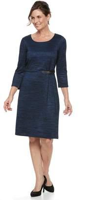 Dana Buchman Women's Marled Side Buckle Dress