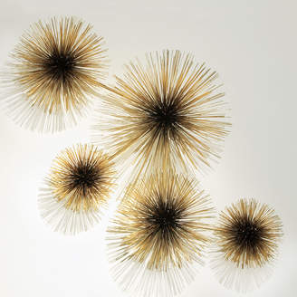 Jonathan Adler C. Jere Brass Urchin Sculpture Wall Art