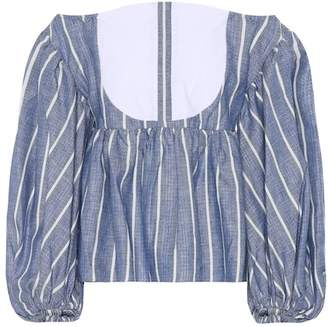 Caroline Constas Linen and cotton top