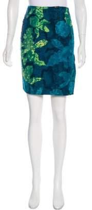Versace Printed Knee-Length Skirt Blue Printed Knee-Length Skirt