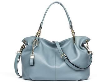 Bostanten Leather Handbags Tote Shoulder Crossbody Bags for Women Black
