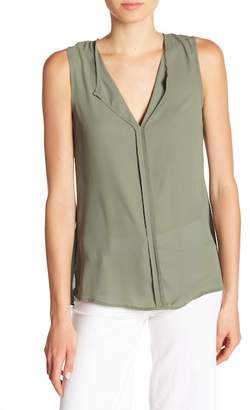 Bobeau B Collection by Lily Pleated Back Solid Tank Top