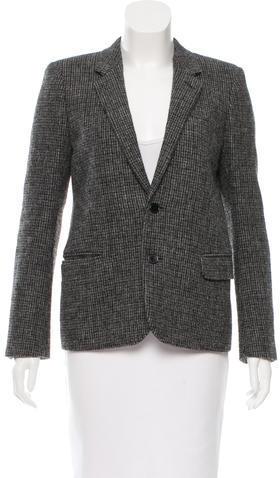 Saint LaurentSaint Laurent Leather-Accented Wool Blazer