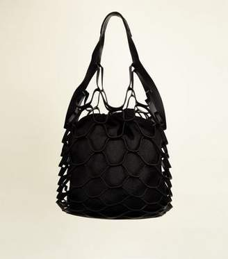 New Look Black Net Beach Bag
