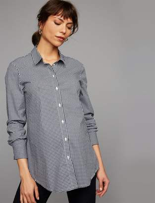 Isabella Oliver Gingham Button Down Maternity Shirt