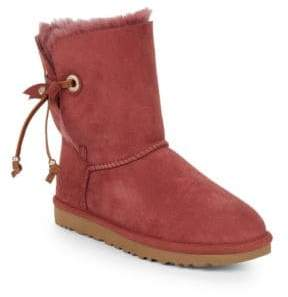 ... UGG Shearling Lined Suede Ankle Boots
