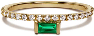 Nikita Selin Kent Emerald Baguette & White Diamonds Ring