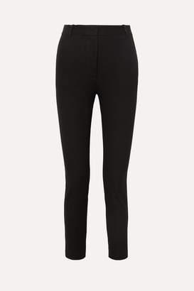 Joseph Zoom Cropped Stretch-gabardine Slim-leg Pants - Black