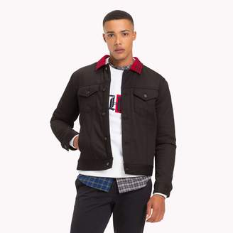 Tommy Hilfiger Lewis Hamilton Check Collar Denim Jacket