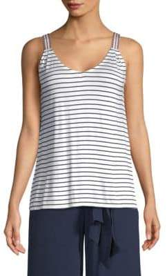 Max Studio Stripe Tank Top