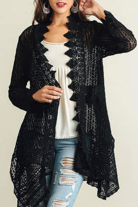 Umgee USA Lace Detailed Cardigan