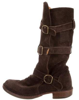 Fiorentini+Baker Suede Buckle Boots