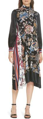 Tory Burch Delilah Silk Midi Dress