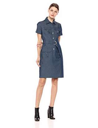 Sharagano Women's Denim Shirt Dress