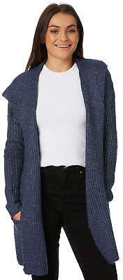 Volcom New Women's Homeward Bound Sweater Wool Elastane Blue
