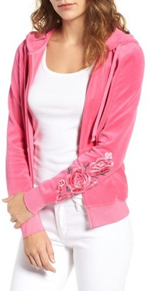 Women's Juicy Couture Floral Enchantment Robertson Velour Hoodie