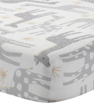 Lambs & Ivy Signature Moonbeams Giraffe and Stars 100% Cotton Baby Fitted Crib Sheet Bedding