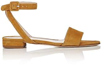 Barneys New York Women's Suede Crisscross-Strap Sandals $235 thestylecure.com
