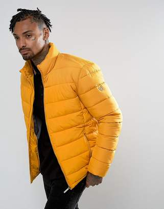 Versace Puffer Jacket In Yellow
