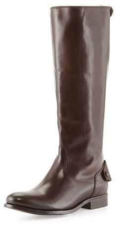 Frye Melissa Button/Zip Boot, Dark Brown