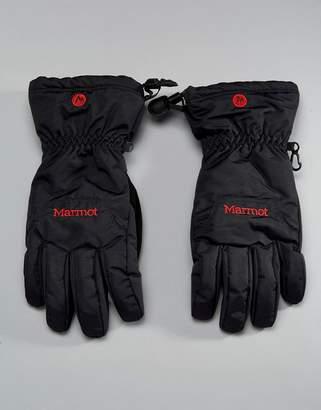 Marmot On Piste Thermal Ski Gloves in Black