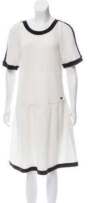 Chanel Textured Knit Knee-Length Dress