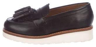 Grenson Leather Platform Loafers