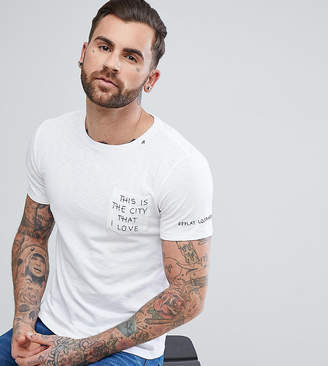 Replay Embroidered City I Love T-Shirt