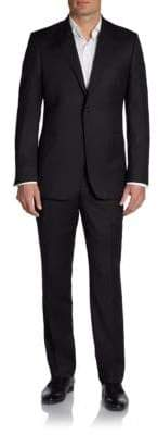 Slim-Fit Solid Wool Suit