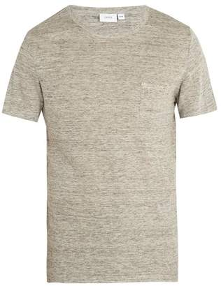 Onia Chad Linen Blend Jersey T Shirt - Mens - Grey