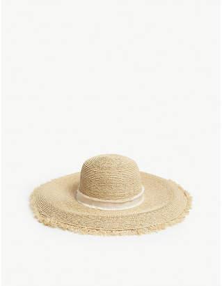 Heidi Klein Cape Elizabeth raffia wide-brimmed frayed hat