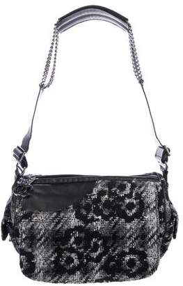 Chanel Camelia Tweed Camera Bag