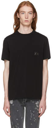 Neil Barrett Black Iconic Pierced Off Side T-Shirt