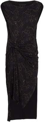AllSaints Snakeskin Print Dress