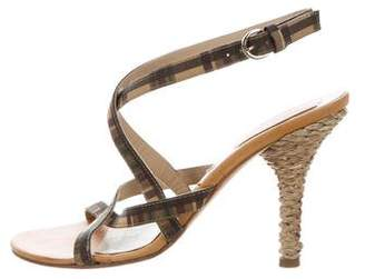 Michael Kors High-Heel Crossover Sandals